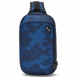 Menší batoh přes rameno s jedním popruhem Pacsafe Vibe 325 Sling Pack blue camo