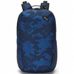 Batoh Pacsafe Vibe 25L Backpack blue camo bezpečnostní
