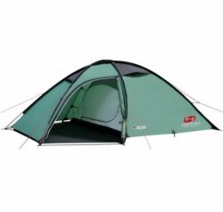 Turistický stan Hannah Sett AL dural tyčky, zelený, kvalitní outdoor stan pro 2-3 osoby s předsíní