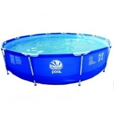 Nadzemní bazény s konstrukcí, zahradní kruhový bazén s filtrací 360 x 76 cm