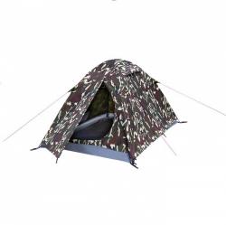 Lehký turistický maskáčový stan Loap pro 2 osoby, maskované stany lehké