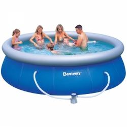 Levné zahradní kruhové bazény 366 x 91 s filtrací, nejlevnější nadzemní bazény