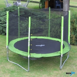 Dětská trampolína 305 cm s ochrannou sítí, venkovní dětské trampolíny na zahradu