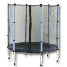 Malá dětská trampolína s ochrannou sítí 140 cm, levné trampolíny se sítí